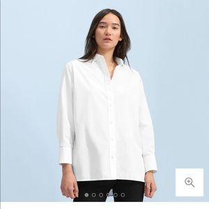 NWT Everlane Poplin oversized shirt 6